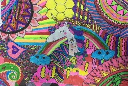 Çocuklar ile Doodle Art Yapıyoruz